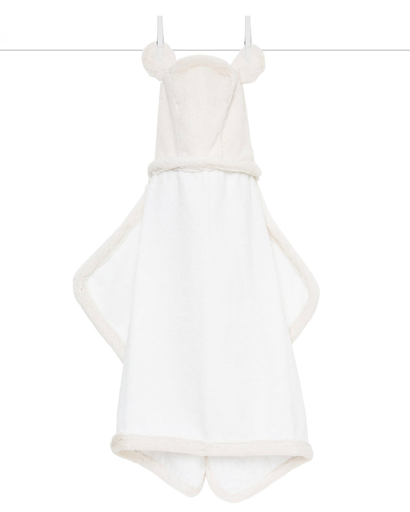 Chenille Luxe Hooded Towel - Cream
