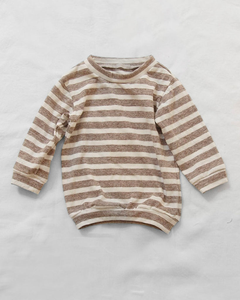 Nate Pullover - Brown Stripe