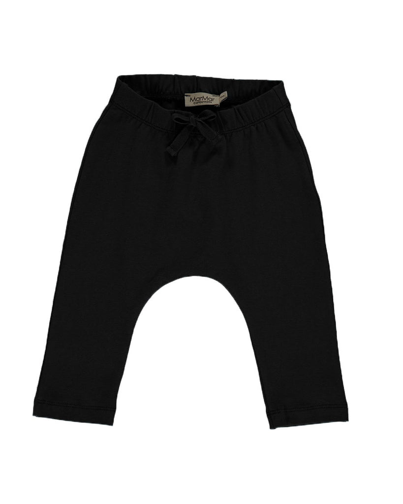 black jersey drawstring pants