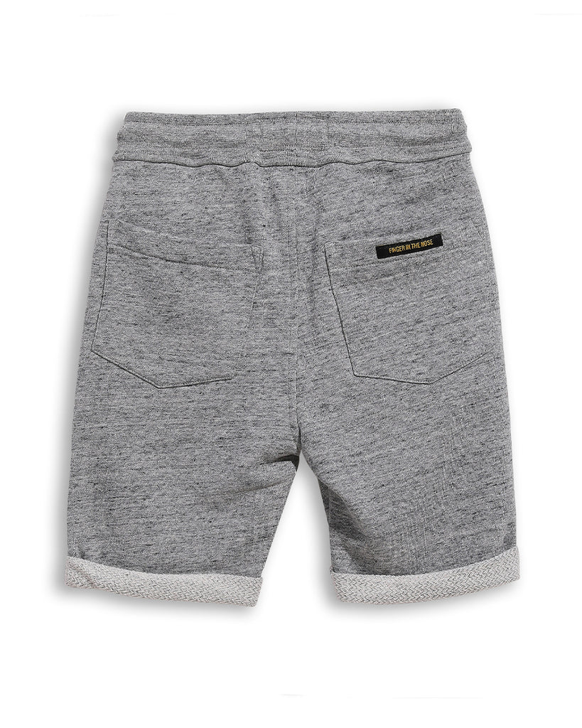 heather grey bermuda sweat shorts