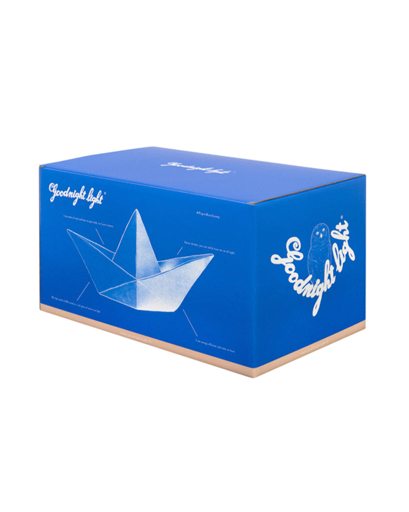 white oragami boat night light