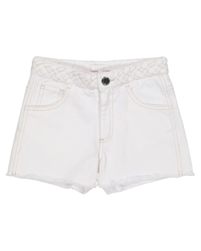 Shorts with Braided Belt