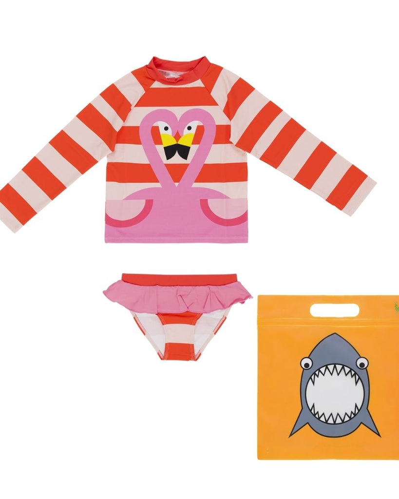 Flamingo Rashguard Set