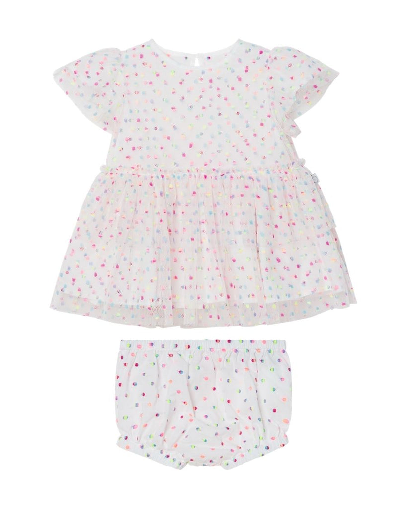 Baby Embroidered Dots Tulle Dress
