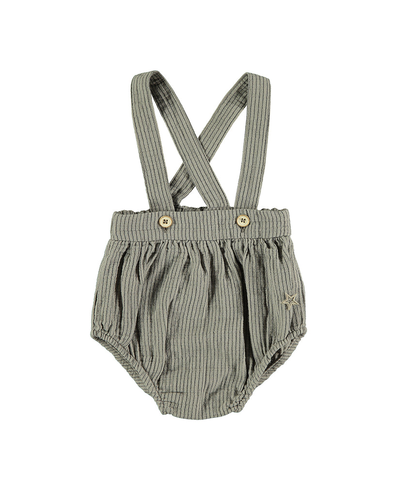 grey striped bloomers with suspenders