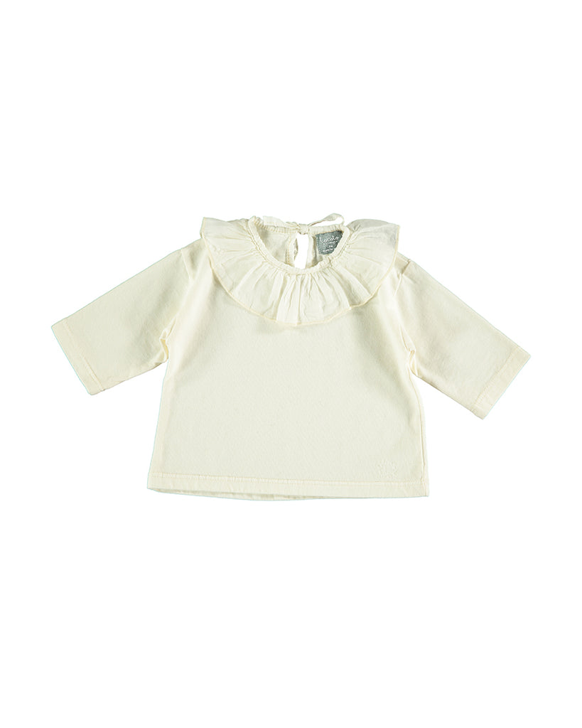 Voile Collar T-Shirt - Off White