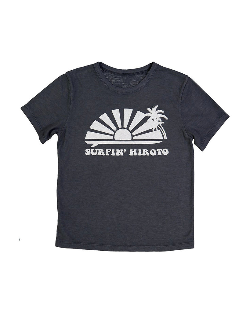 charcoal surfin hiroto graphic print t-shirt