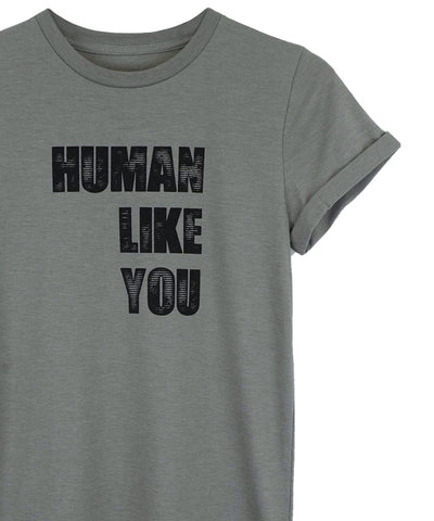 Human Like You Stone Crewneck by Androgynous Fox