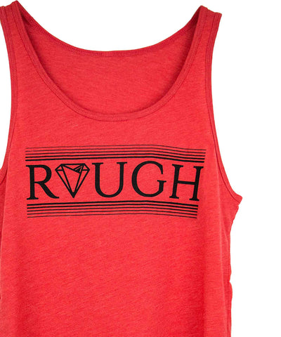 Red Diamond in the rough tank top by Androgynous Fox