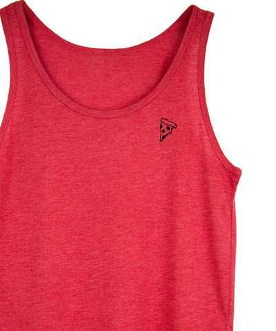 Red Pizza  stick n poke tank by Androgynous Fox