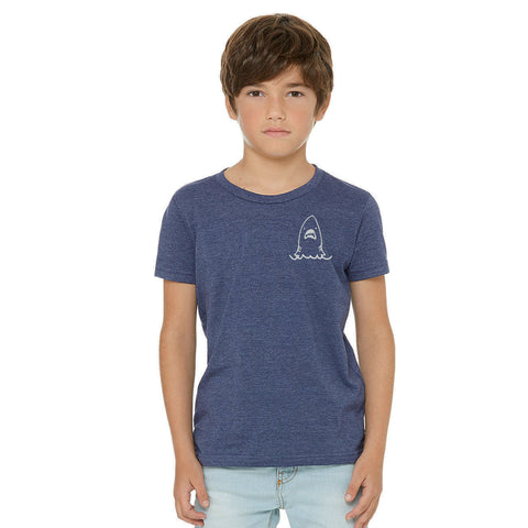 Androgynous Fox shark tee! modeled by youth