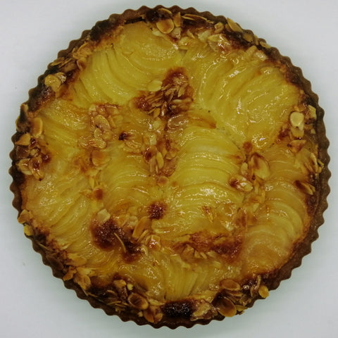 Poached Pear Almond Tart