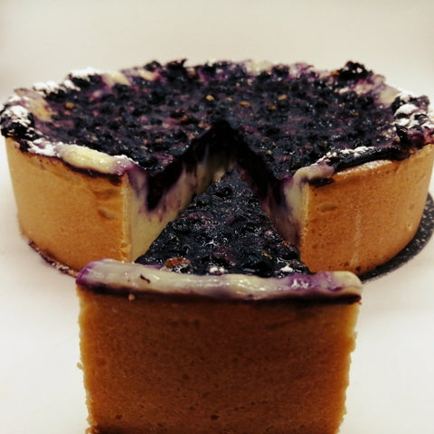 Blueberry Vanilla Custard Tart