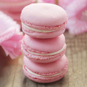 Baby Pink Strawberry French Macarons