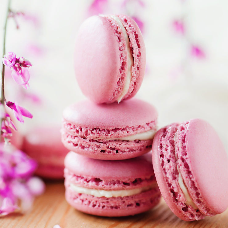 Pink Strawberry French Macarons