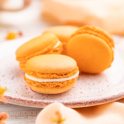 Orange French Macarons