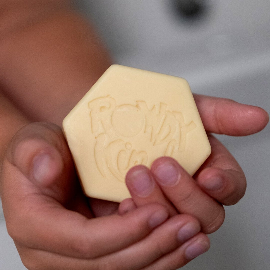 Imperfect Coco-Nutty Solid Moisturiser 60-75g - Rowdy Kind - Plastic Free Shampoo Bars and Body Bars