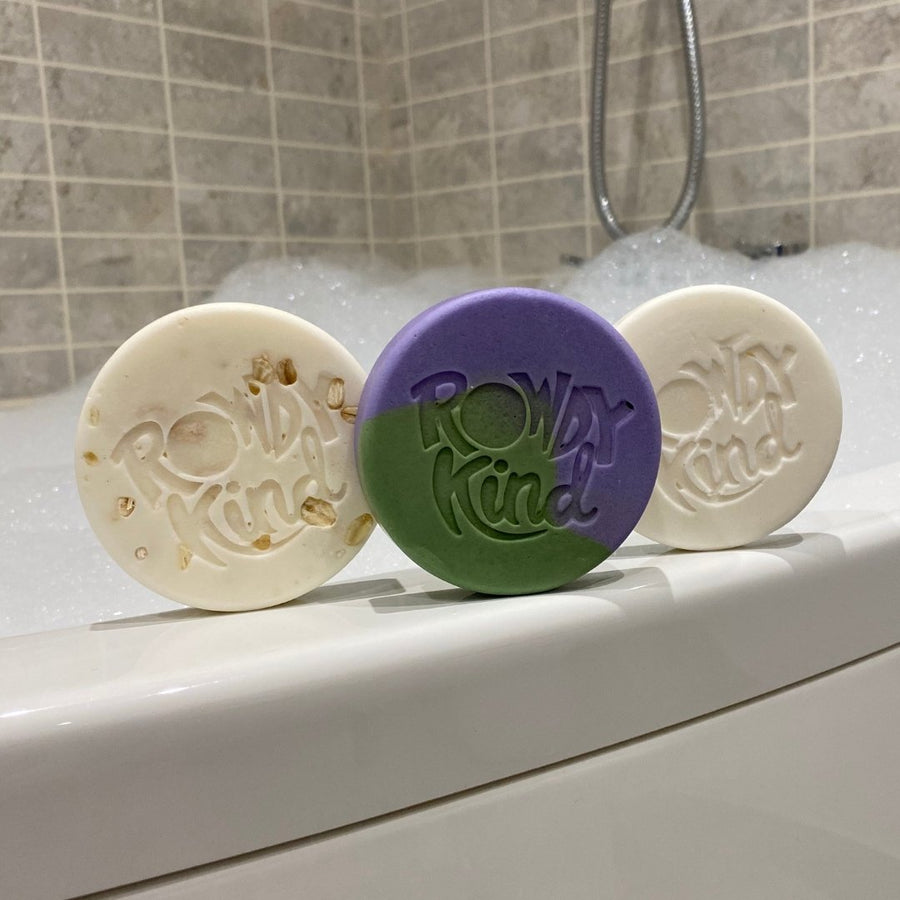 Imperfect Just Plain Cheeky Hair & Everywhere Bar 78g-110g - Rowdy Kind - Plastic Free Shampoo Bars and Body Bars