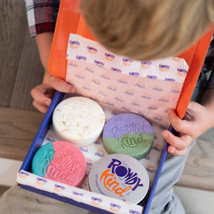 Kind to Young Minds Collection - Retail Pack - Rowdy Kind - Plastic Free Shampoo Bars and Body Bars