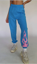 Load image into Gallery viewer, Fire Flames Sweatpants