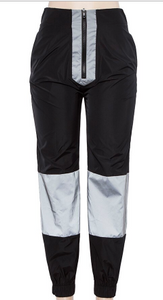 Black and Reflective half Zip Joggers