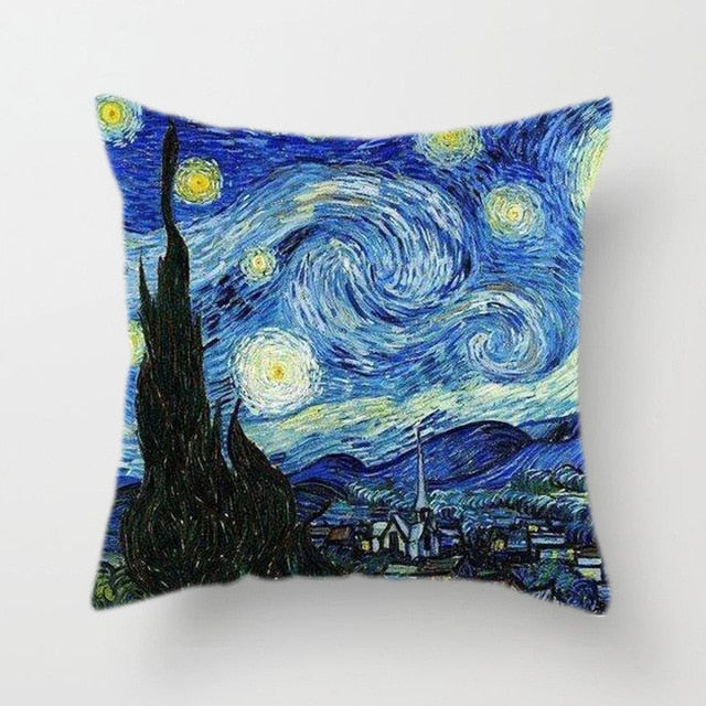 Starry Sky Van Gogh Pillow Cover