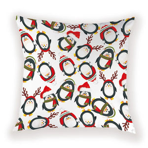 Penguin Reindeer Pillow Cover