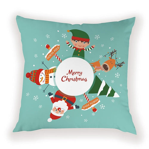 North Pole Christmas Pillow Cover