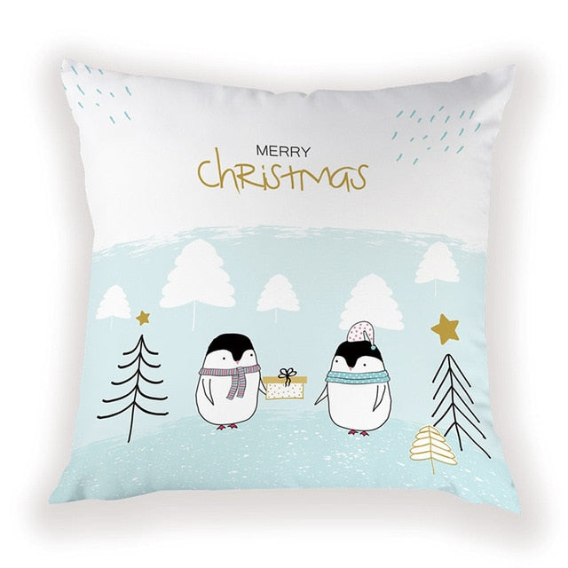 Penguin Presents Pillow Cover