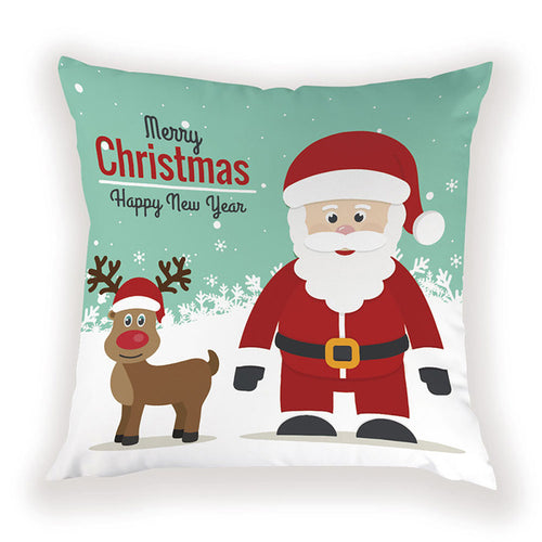Santa and Rudolph Pillow Cover