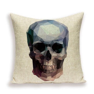 Abstract Skull Pillow Cover