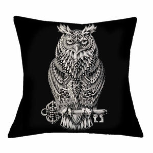 Ornate Owl Pillow Cover