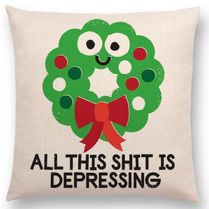 All This Shit Is Depressing Pillow Cover