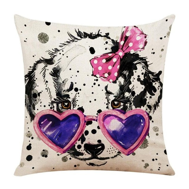 Cute Ornate Dog Pillow Cover