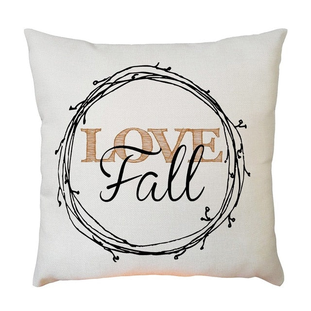 Love Fall Pillow Cover