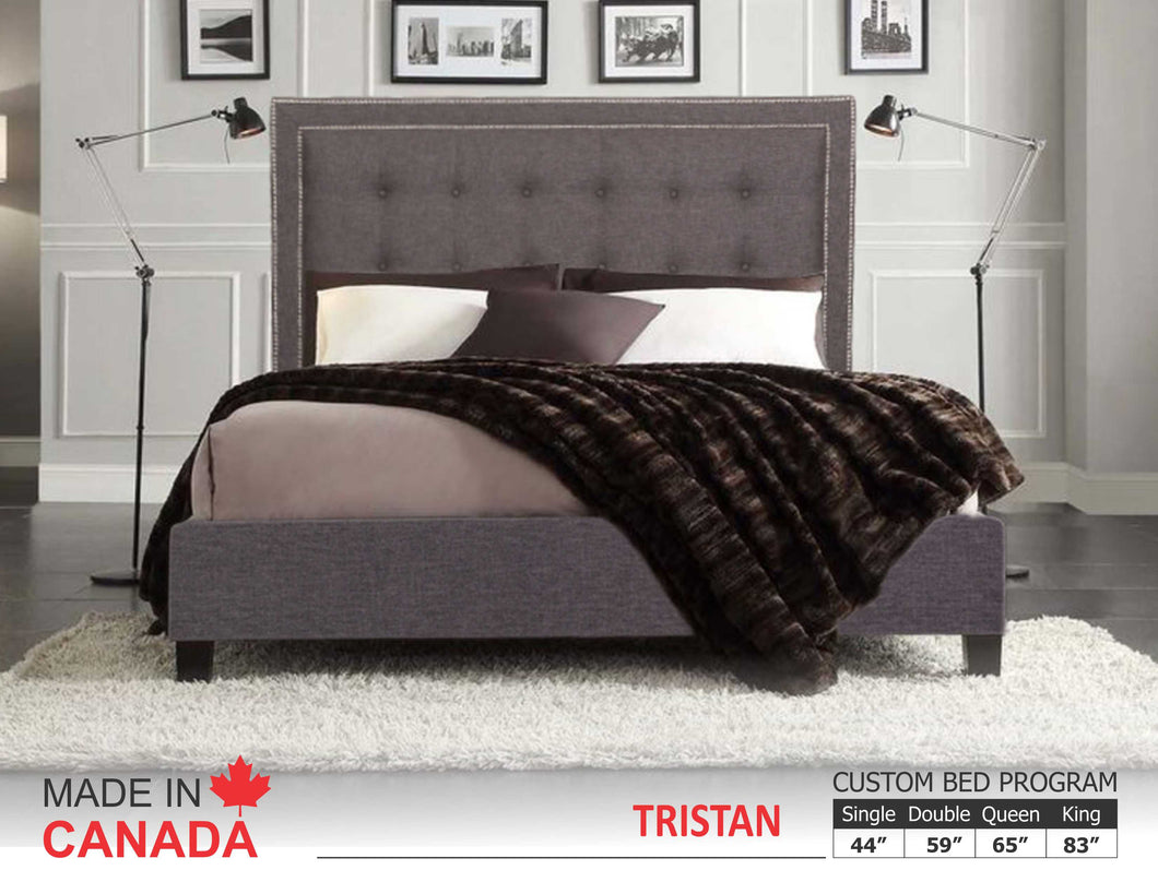 Tristan - Custom Upholstered Bed Collection - Made In Canada
