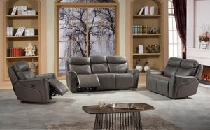 Aliyah - Power Recliner Collection - Grey Italian Leather Match