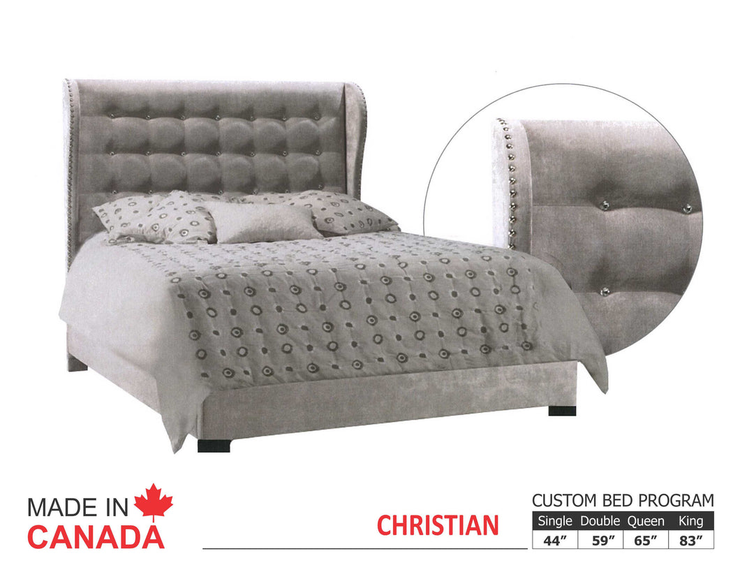 Christian - Custom Upholstered Bed Collection - Made In Canada