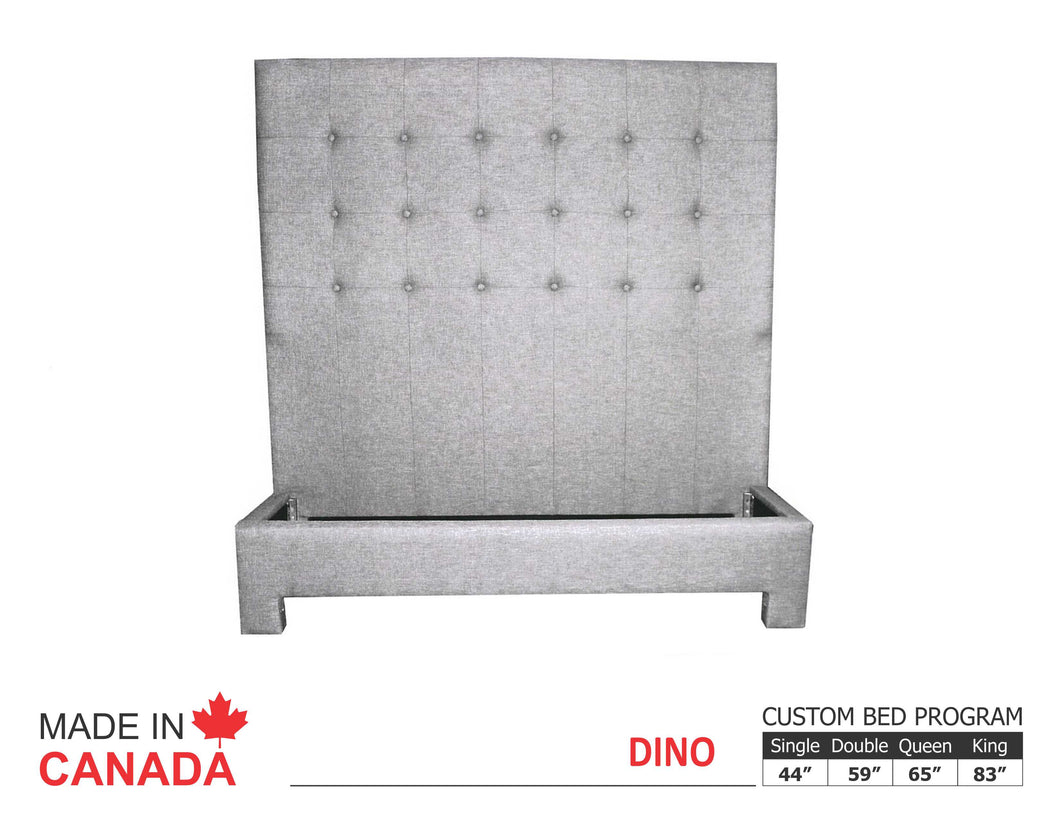 Dino - Custom Upholstered Bed Collection - Made In Canada
