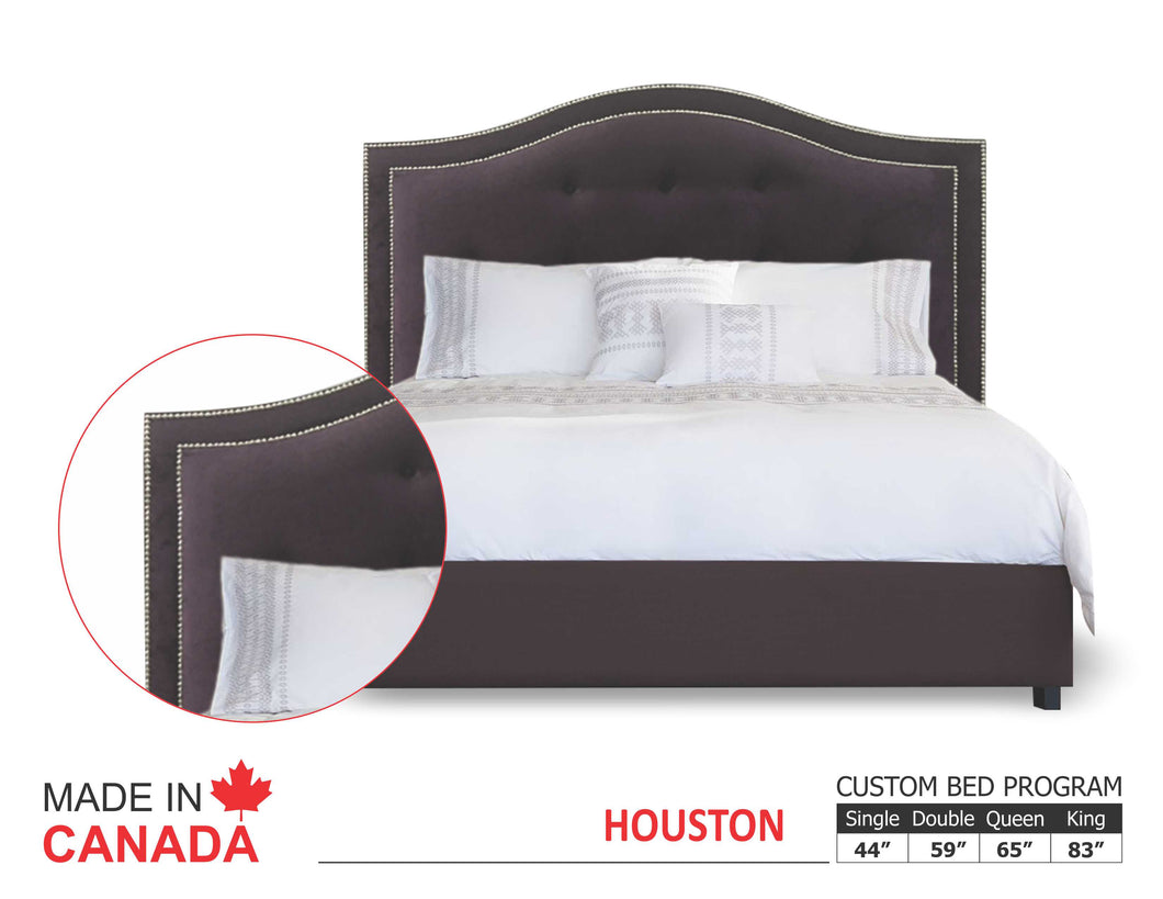 Houston - Custom Upholstered Bed Collection - Made In Canada