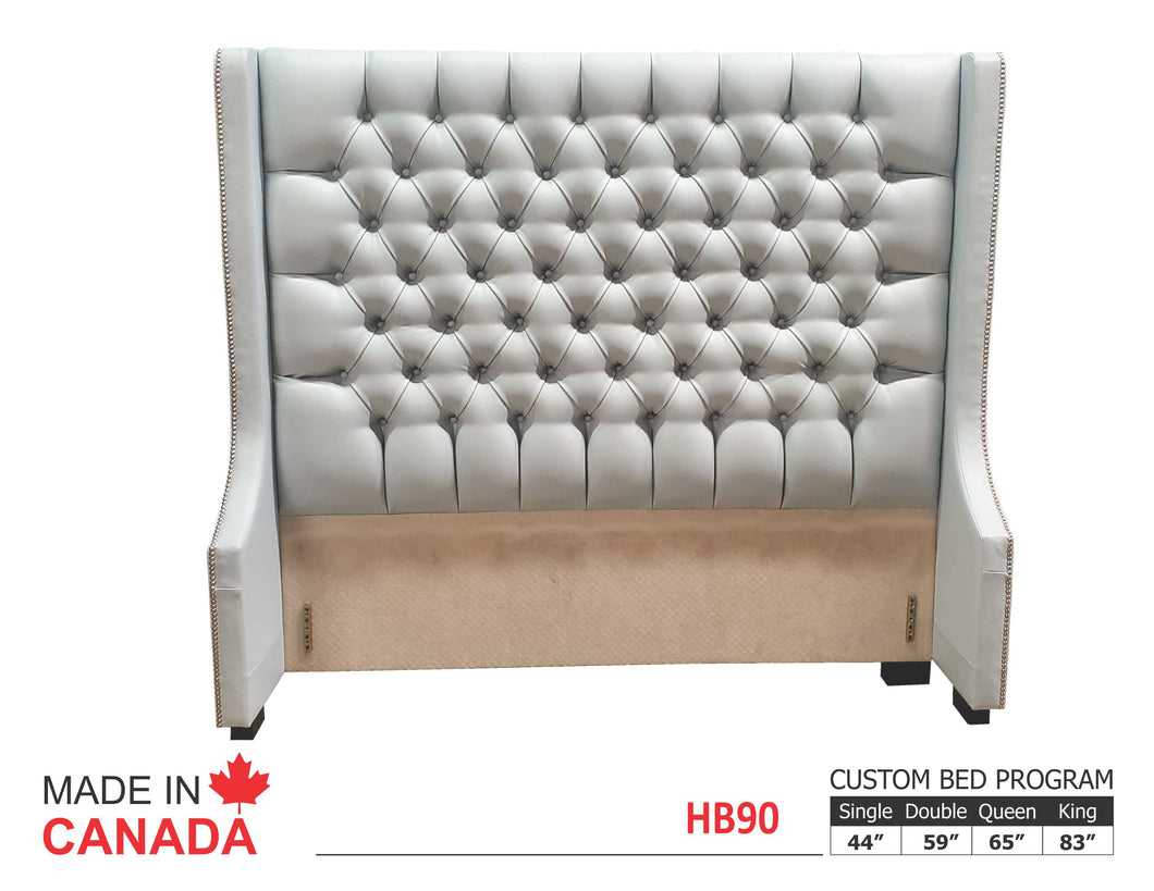 Heather HB90 - Custom Upholstered Bed Collection - Made In Canada