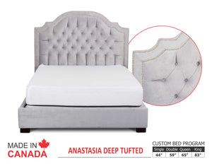 Anastasia - Custom Upholstered Bed Collection - Made In Canada