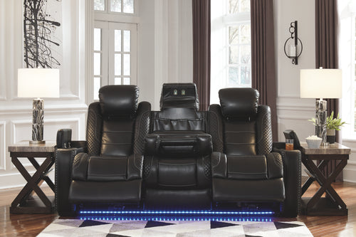 Party Time - Power Recliner Sofa - Adjustable Headrest - 3700313 - Ashley Furniture