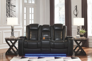 Party Time - Power Recliner Love Seat - Adjustable Headrest - 3700313 - Ashley Furniture