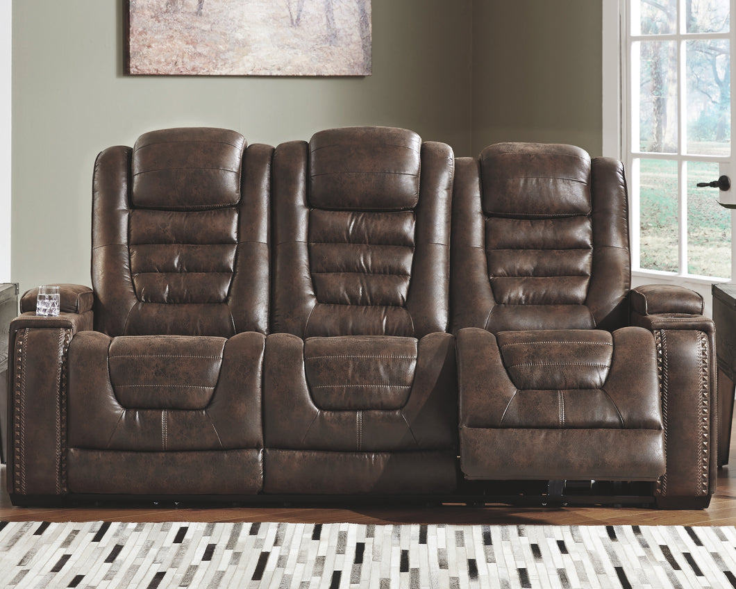 Game Zone - Power Recliner Sofa - Adjustable Headrest - 3850118 - Ashley Furniture