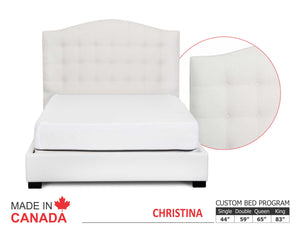 Christina - Custom Upholstered Bed Collection - Made In Canada