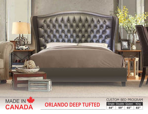 Orlando - Custom Upholstered Bed Collection - Made In Canada