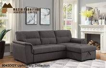 Load image into Gallery viewer, Sectional Sleeper with storage - Dark Grey - 9043DGY - Mazin Furniture