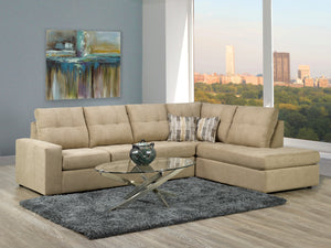 Coral - Annapolis Khaki - Sectional - Made in Canada