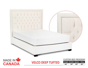 Velco - Custom Upholstered Bed Collection - Made In Canada